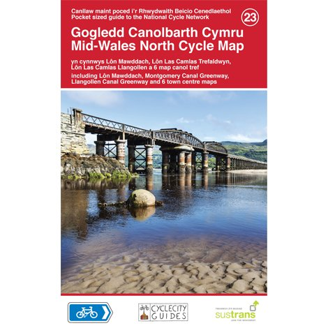 Sustrans National Cycle Network - Mid Wales North Cycle Map (23)