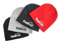 Dash4it Pull-On Beanie Hat - Black