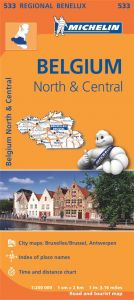 Michelin Regional Map - 533-Belgique Nord & Centre