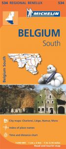 Michelin Regional Map - 534-Belgique Sud, Ardenne