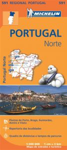 Michelin Regional Map - 591-Portugal Norte (N)