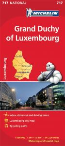 Michelin National Map - 717-Grand Duchy of Luxembourg