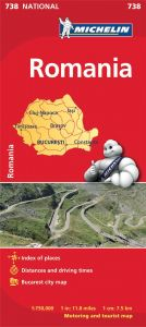 Michelin National Map - 738-Romania