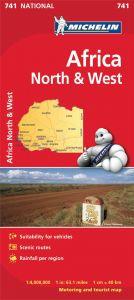 Michelin National Map - 741-Africa North & West