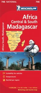 Michelin National Map - 746 - Africa Central & South