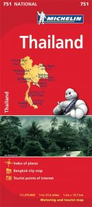 Michelin National Map - 751-Thailand