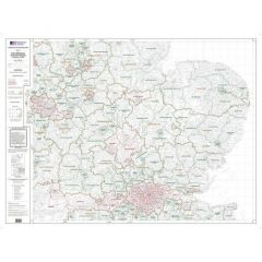 OS Admin Boundry Map - East Midlands