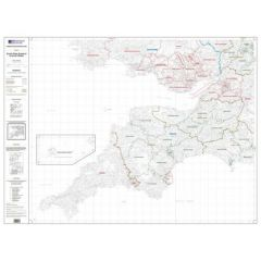 OS Admin Boundry Map - South West England