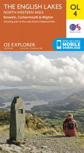 OS Explorer Leisure - OL4 - The English Lakes - North Western