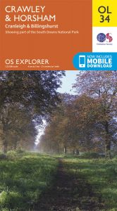 OS Explorer Leisure - OL34 - Crawley & Horsham