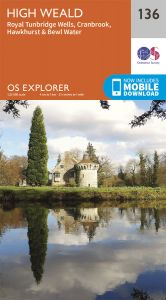 OS Explorer - 136 - Royal Tunbridge Wells. Cranbrook, Hawkhurst & Bewl