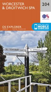 OS Explorer - 204 - Worcester & Droitwich Spa