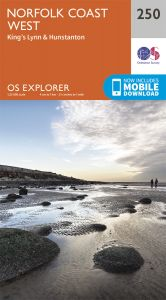 OS Explorer - 250 - Norfolk Coast West