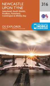 OS Explorer - 316 - Newcastle upon Tyne