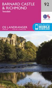 OS Landranger - 92 - Barnard Castle and surrounding areas