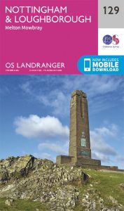 OS Landranger - 129 - Nottingham & Loughborough, Melton Mowbray