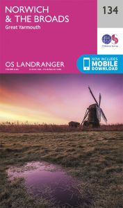 OS Landranger - 134 - Norwich & The Broads, Great Yarmouth