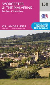 OS Landranger - 150 - Worcester & The Malverns