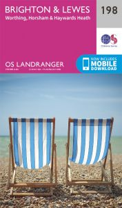 OS Landranger - 198 - Brighton & Lewes, Haywards Heath