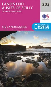 OS Landranger - 203 - Land's End & IOS, St Ives & Lizard