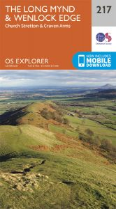 OS Explorer - 217 - The Long Mynd & Wenlock Edge