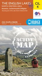OS Explorer Active - 4 - The English Lakes - North Western
