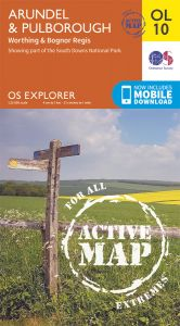 OS Explorer Active - 10 - Arundel & Pulborough