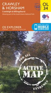 OS Explorer Active - 34 - Crawley & Horsham