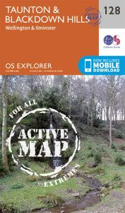OS Explorer Active - 128 - Taunton & Blackdown Hills