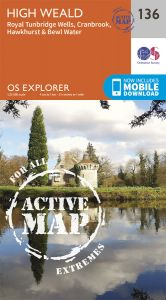 OS Explorer Active - 136 Royal Tunbridge Wells & Cranbrook