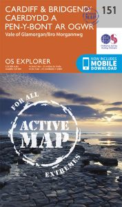 OS Explorer Active - 151 - Cardiff & Bridgend