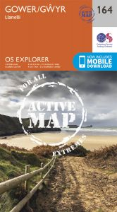 OS Explorer Active - 164 - Gower/Gwyr