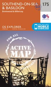 OS Explorer Active - 175 - Southend-on-Sea & Basildon