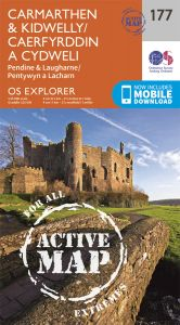 OS Explorer Active - 177 - Carmarthen & Kidwelly