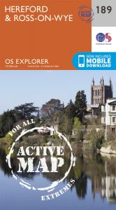 OS Explorer Active - 189 - Hereford & Ross-on-Wye