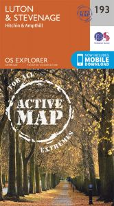 OS Explorer Active - 193 - Luton & Stevenage
