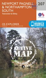 OS Explorer Active - 207 - Newport Pagnell & Northampton
