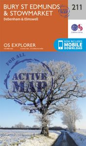 OS Explorer Active - 211 - Bury St Edmunds & Stowmarket