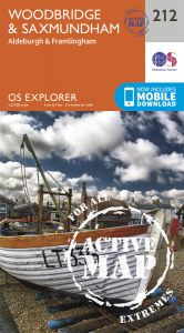 OS Explorer Active - 212 - Woodbridge & Saxmundham
