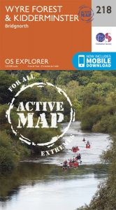 OS Explorer Active - 218 - Kidderminster & Wyre Forest