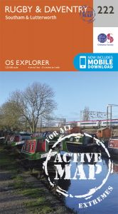 OS Explorer Active - 222 - Rugby & Daventry
