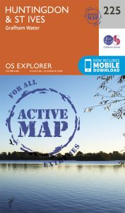 OS Explorer Active - 225 - Huntingdon & St Ives