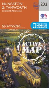 OS Explorer Active - 232 - Nuneaton & Tamworth