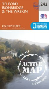 OS Explorer Active - 242 - Telford, Ironbridge & The Wrekin