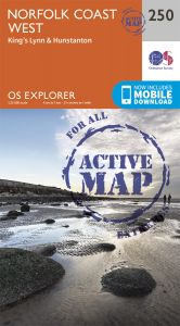 OS Explorer Active - 250 - Norfolk Coast West
