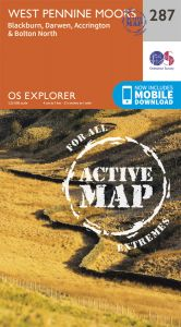 OS Explorer Active - 287 West Pennine Moors, Blackburn