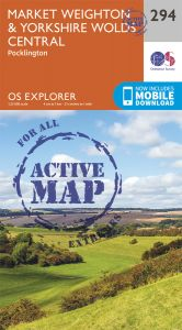 OS Explorer Active - 294 - Market Weighton & Yorkshire Wolds Central