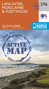 OS Explorer Active - 296 - Lancaster, Morecambe & Fleetwood