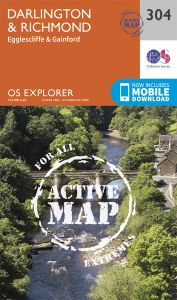 OS Explorer Active - 304 - Darlington & Richmond