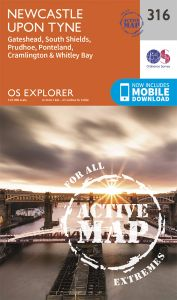 OS Explorer Active - 316 - Newcastle upon Tyne